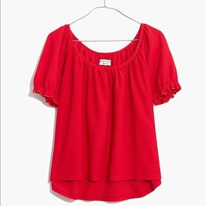 HOST PICK! MADEWELL! Red peasant blouse